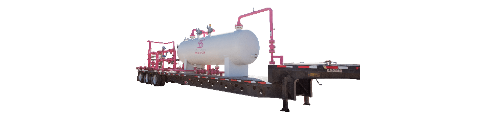 Sand Separation Solutions | 4 Phase Test Separator on a Trailer